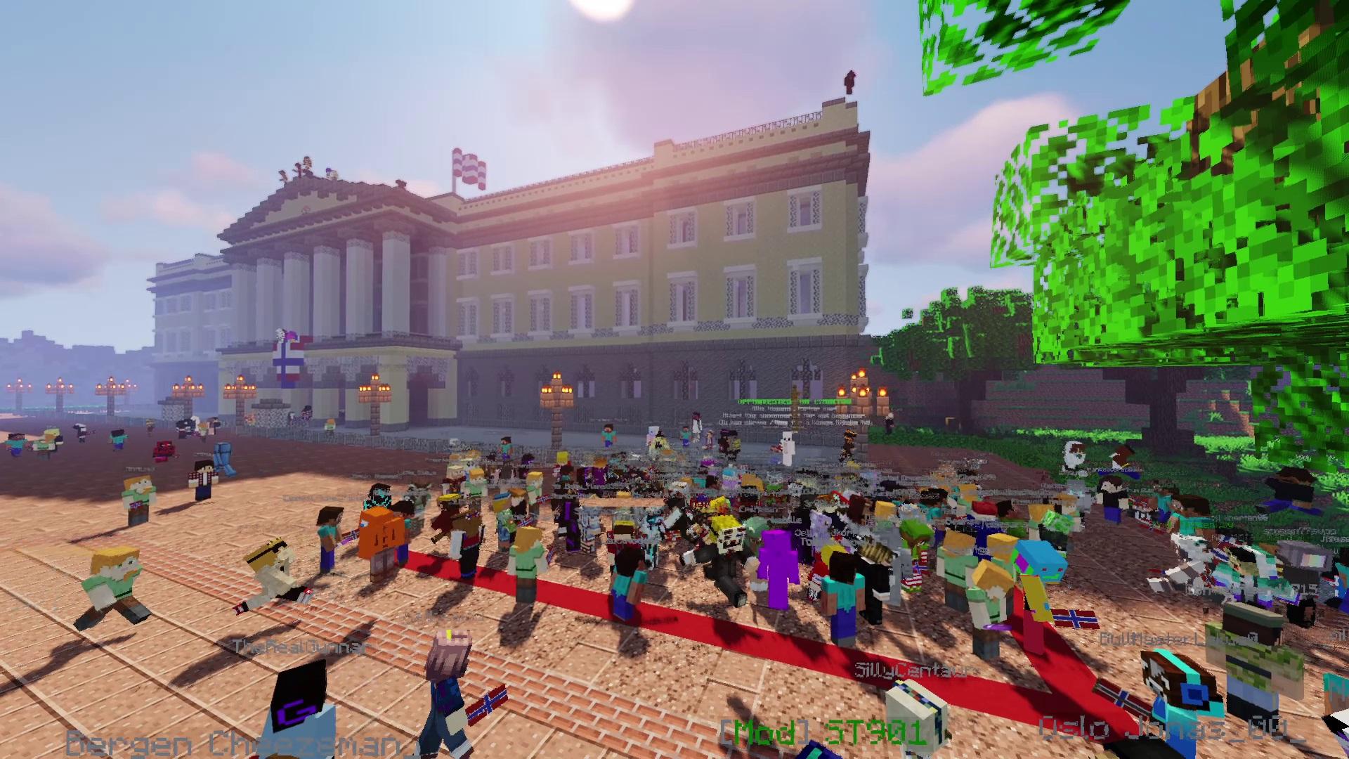 Slottet i Oslo og Minecraftspillere